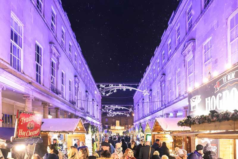 Bath Street el mercado navideño de Bath