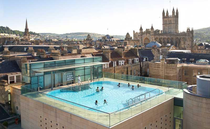 Thermae Bath Spa  Hotel con spa en la terraza en Bath inglaterra