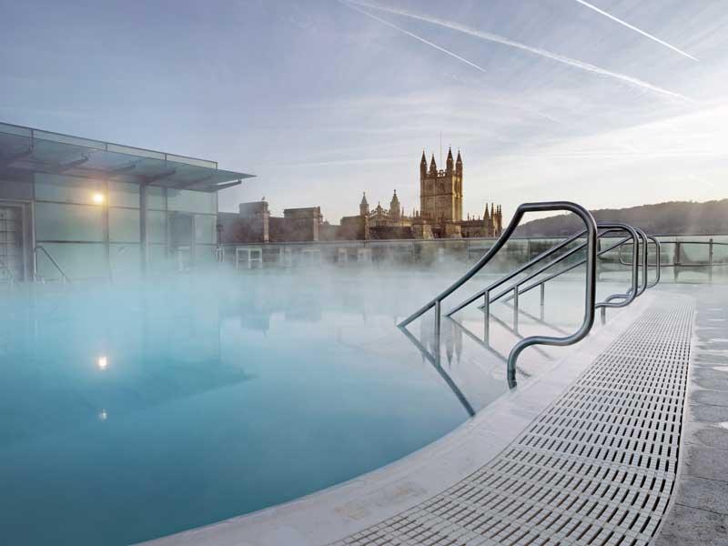 Hotel con spa en la terraza en el centro de Bath