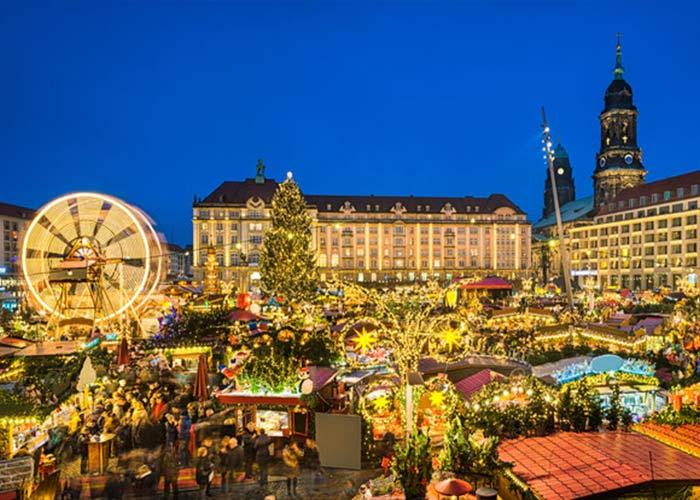 El Mercadillo Navideño de Dresde está lleno de artículos variados