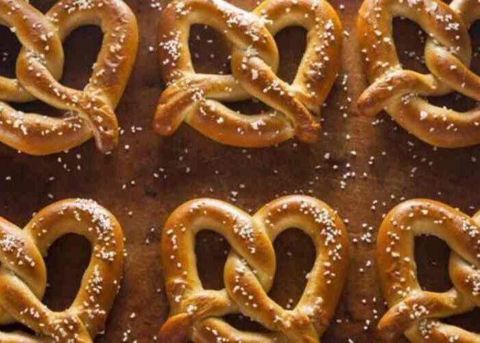 Los pretzels son uno de los bocadillos principaes en las fiestas decembrinas de la región