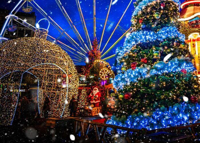 Miles de luces y estrellas decoran la ciudad de Hasselt en las fiestas decembrinas