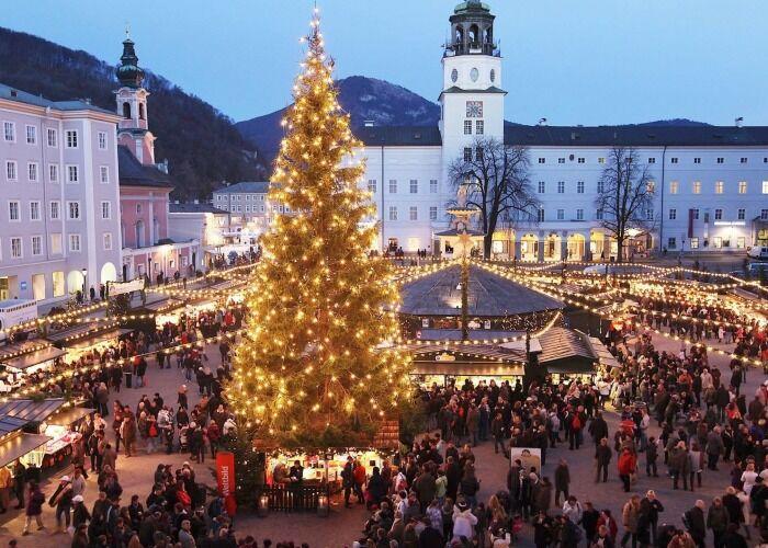 Salzburgo se viste de miles de colores y luces para celebrar las fiestas decembrinas