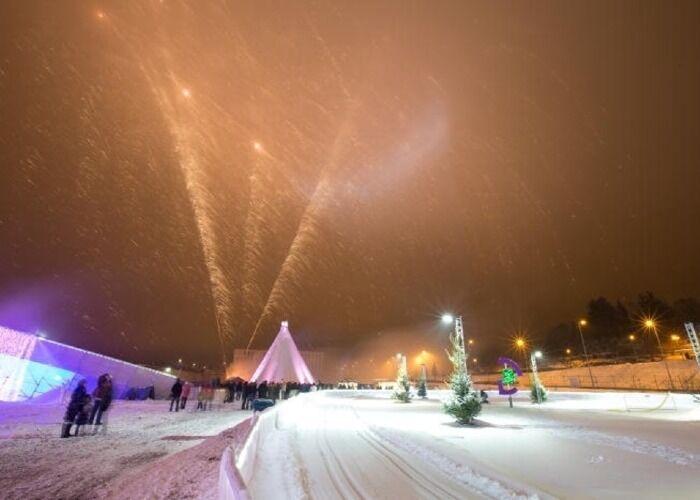 Differdange se llena de fuegos artificiales para celebrar las fiestas decembrinas