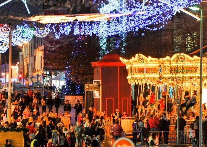 Toad la ciudad se llena de luces para celebrar el Winterval en Waterford